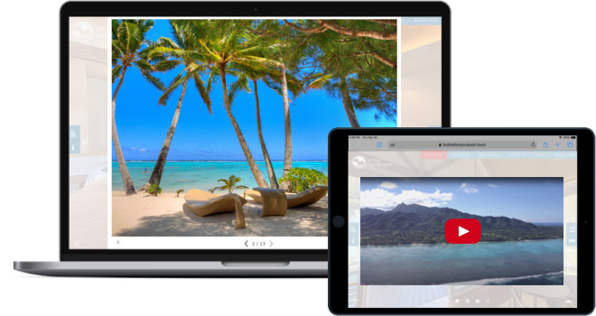 add photo galleries and videos to your virtual tour