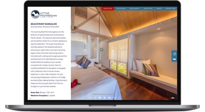 html page integration into virtual tour